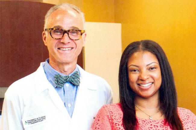 Dr. Miloro and Tanya McCarter