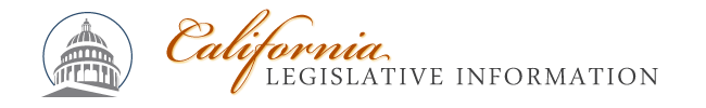 California Legislative Information